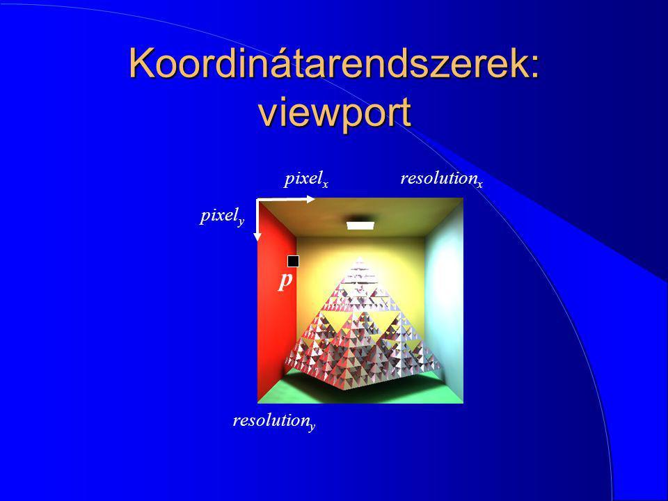 Koordinátarendszerek: viewport