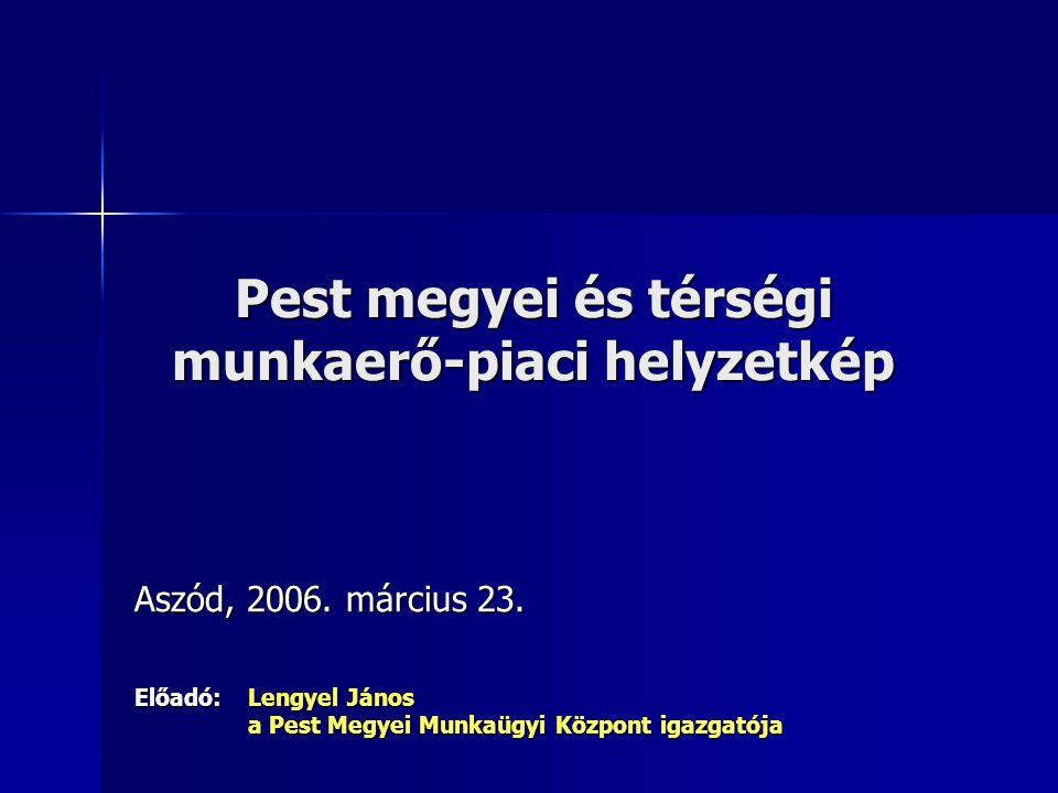 Pest megyei és térségi munkaerő-piaci helyzetkép