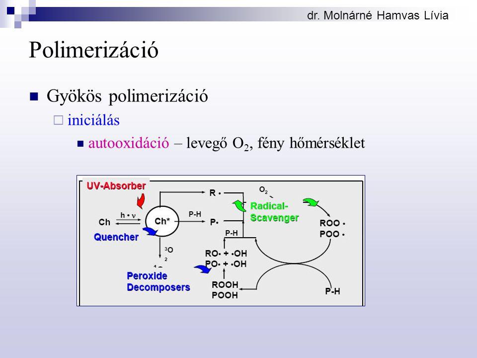 Polimerizáció Gyökös polimerizáció iniciálás