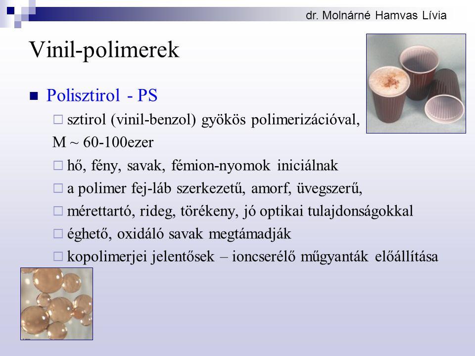 Vinil-polimerek Polisztirol - PS