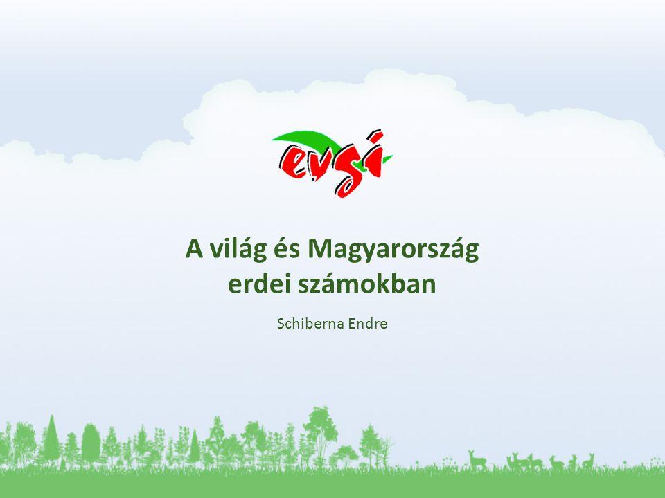 A világ és Magyarország erdei számokban