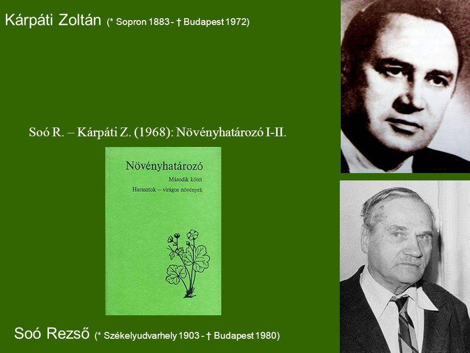 Kárpáti Zoltán (* Sopron 1883 - † Budapest 1972)