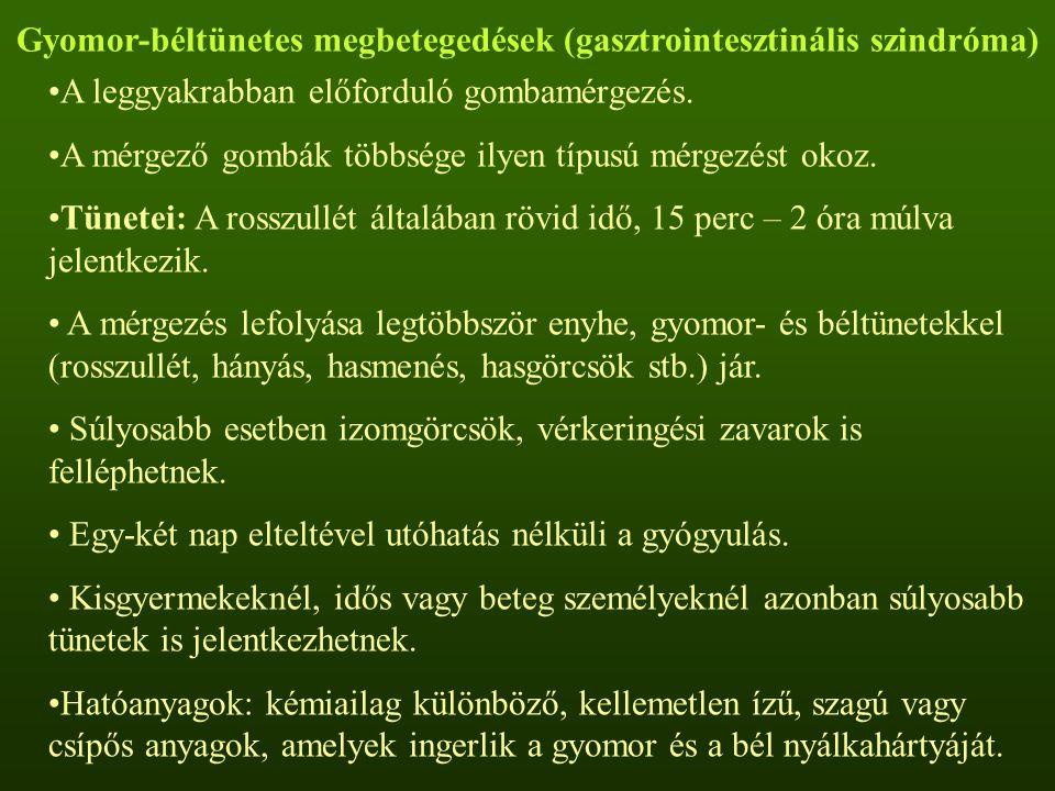 Gyomor-béltünetes megbetegedések (gasztrointesztinális szindróma)