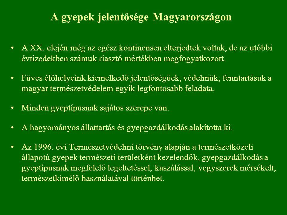 A gyepek jelentősége Magyarországon