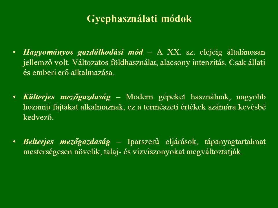 Gyephasználati módok