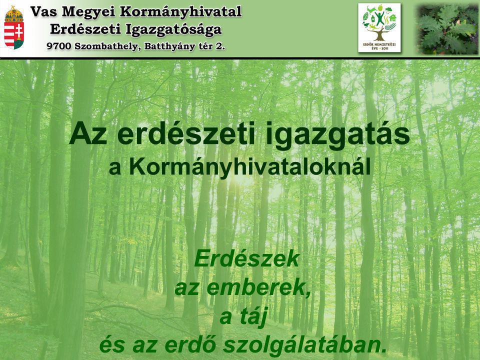 Az erdészeti igazgatás a Kormányhivataloknál és az erdő szolgálatában.