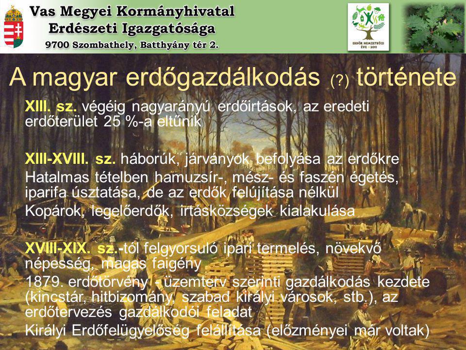 A magyar erdőgazdálkodás ( ) története