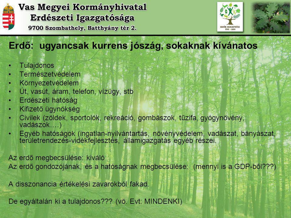 Erdő: ugyancsak kurrens jószág, sokaknak kívánatos
