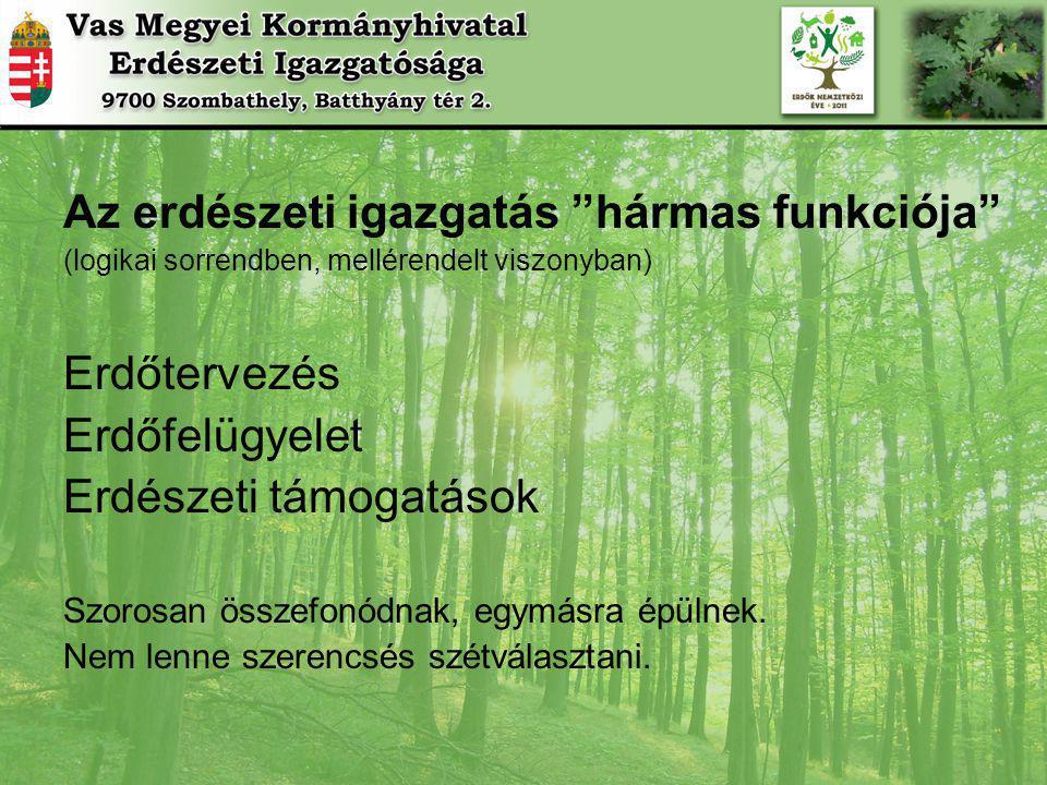 Az erdészeti igazgatás hármas funkciója