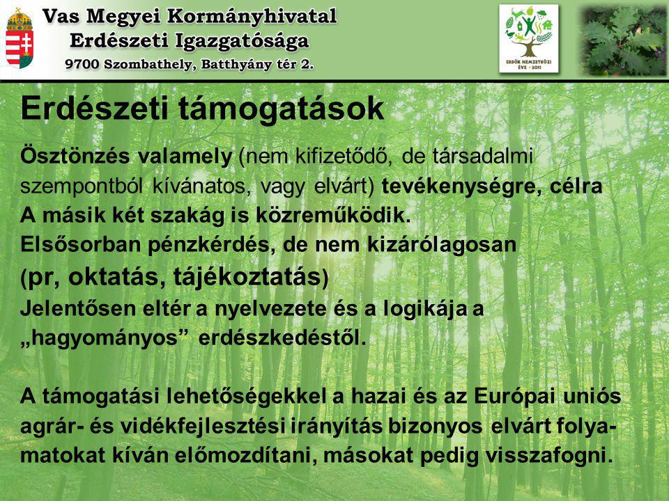 Erdészeti támogatások