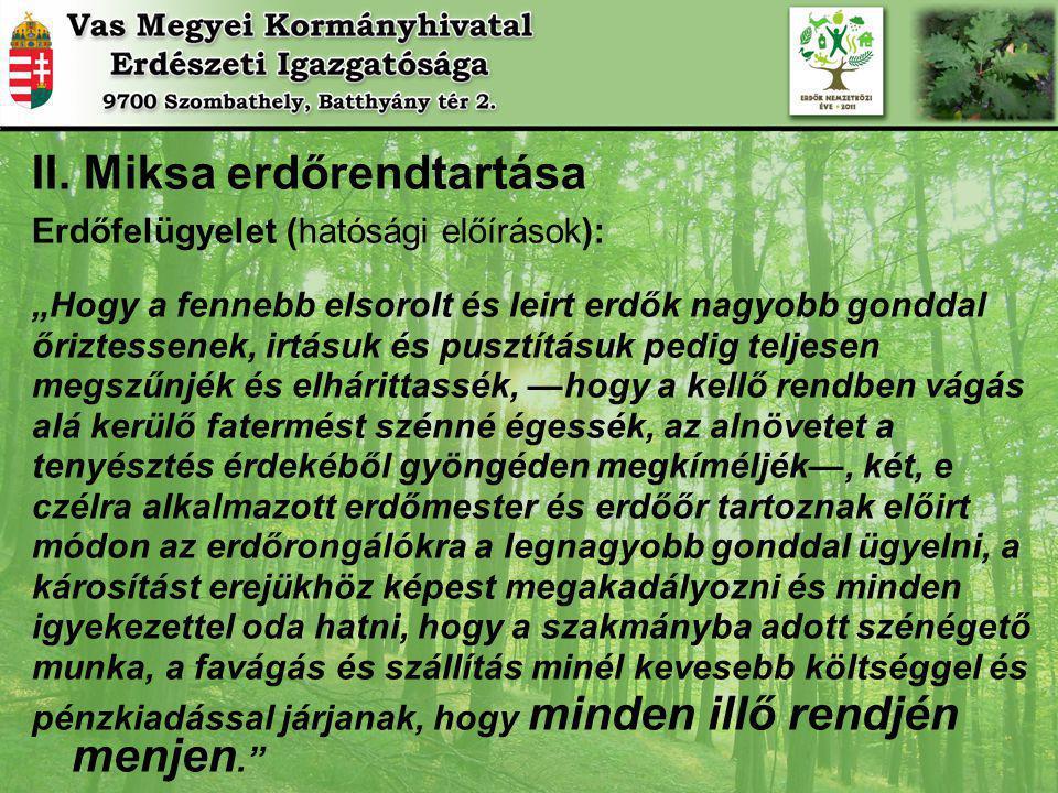 II. Miksa erdőrendtartása