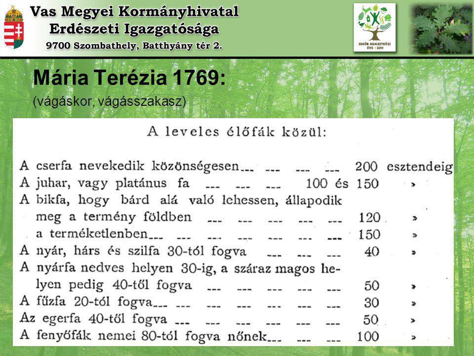Mária Terézia 1769: (vágáskor, vágásszakasz)