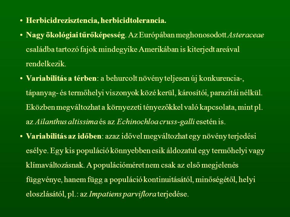 Herbicidrezisztencia, herbicidtolerancia.