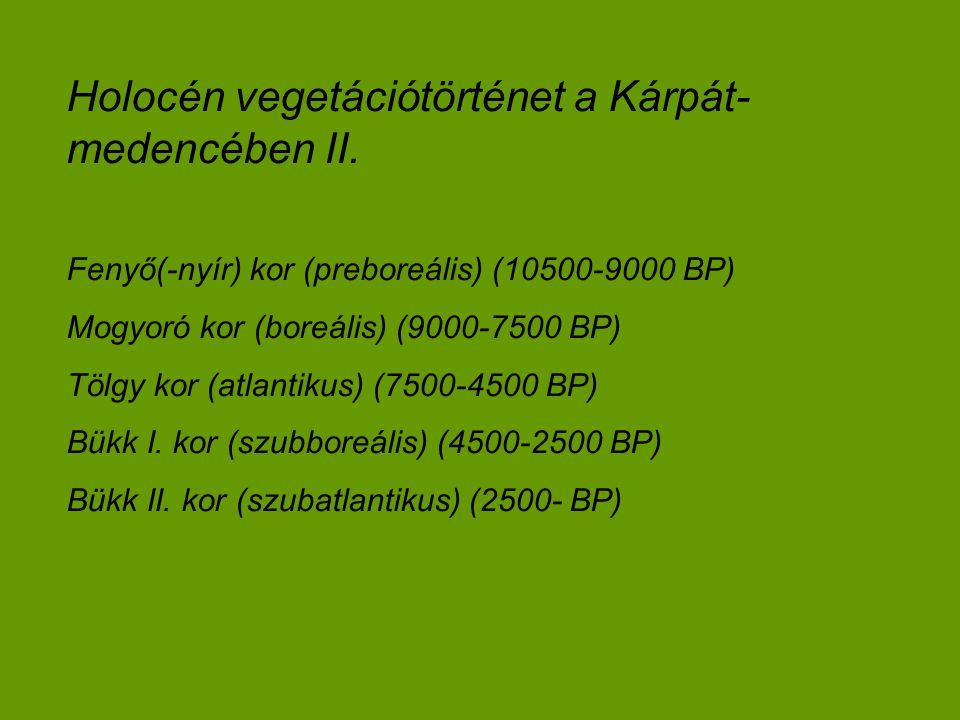 Holocén vegetációtörténet a Kárpát-medencében II.
