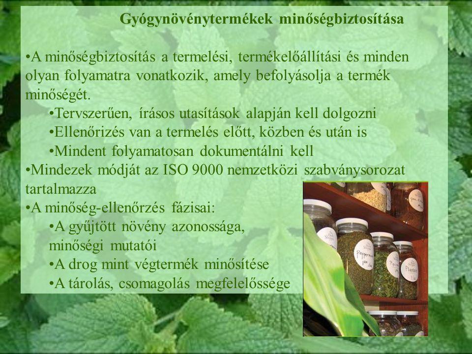 Gyógynövénytermékek minőségbiztosítása