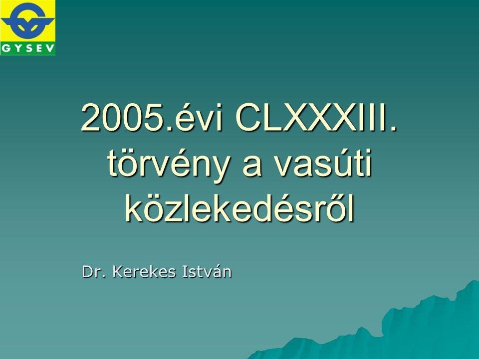 2005.évi CLXXXIII. törvény a vasúti közlekedésről