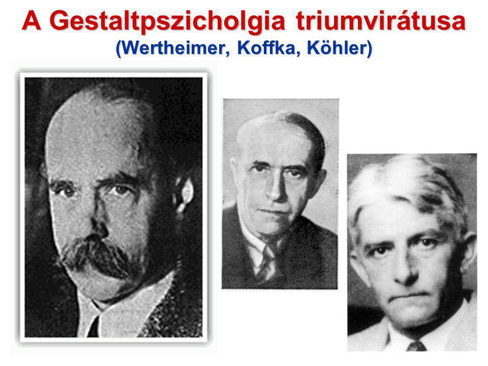 A Gestaltpszicholgia triumvirátusa (Wertheimer, Koffka, Köhler)