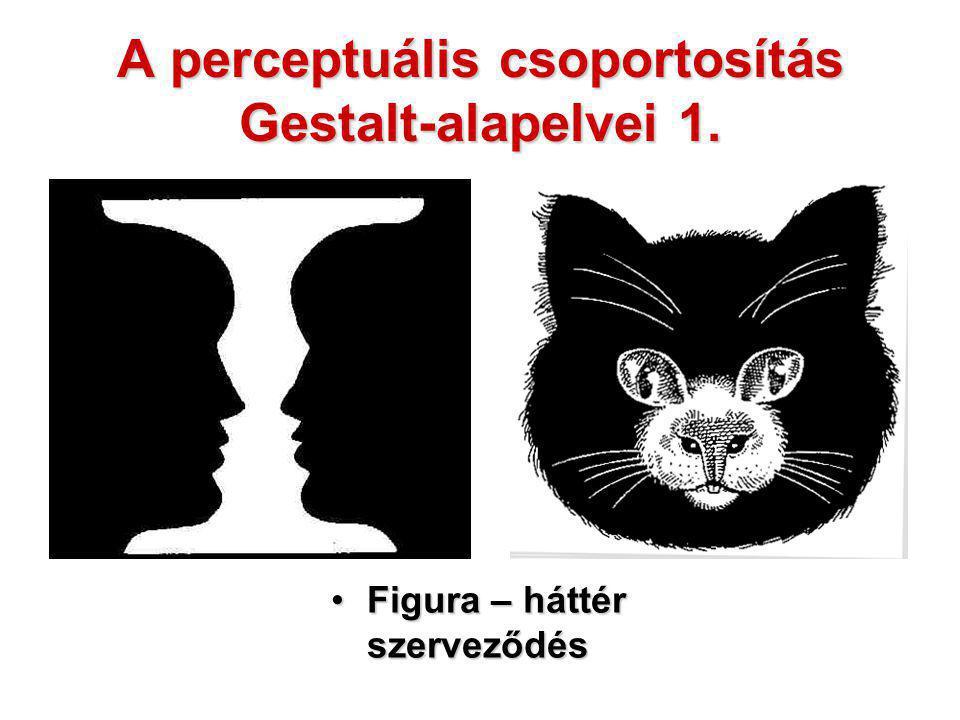 A perceptuális csoportosítás Gestalt-alapelvei 1.