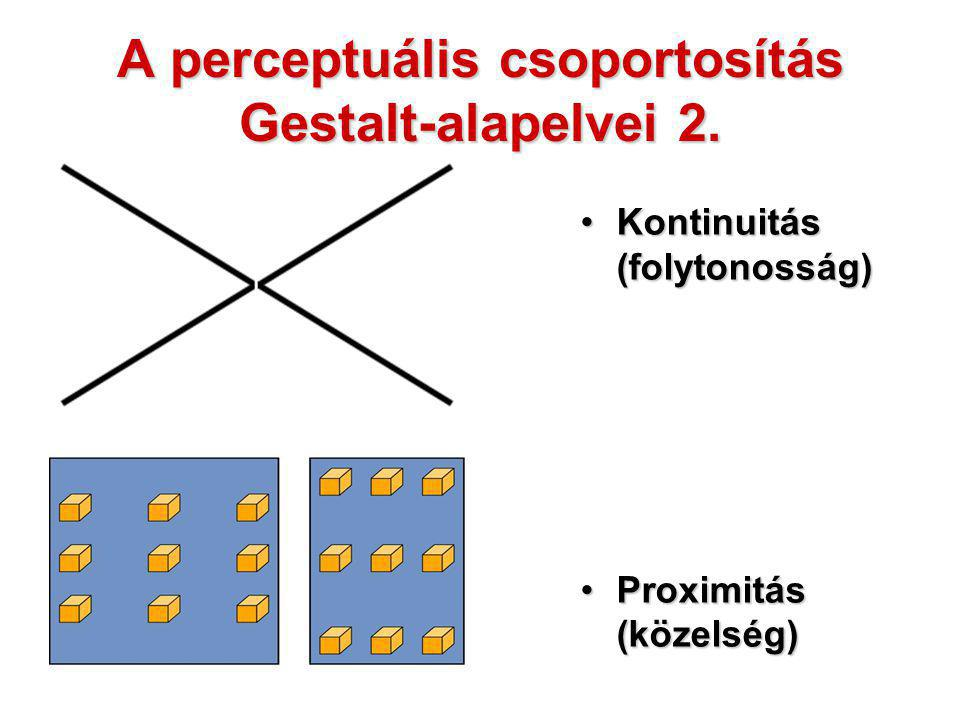 A perceptuális csoportosítás Gestalt-alapelvei 2.
