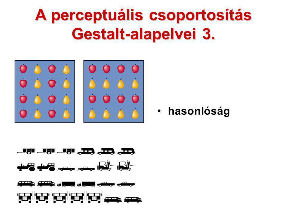 A perceptuális csoportosítás Gestalt-alapelvei 3.