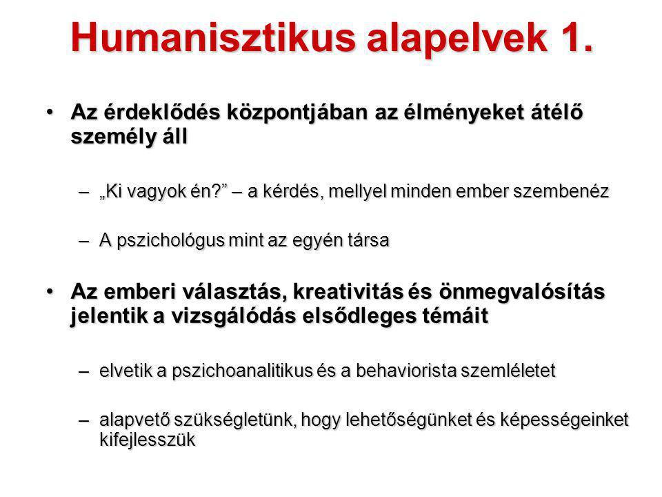 Humanisztikus alapelvek 1.