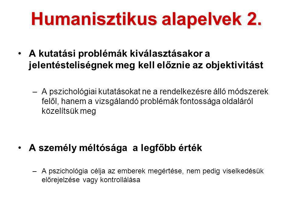 Humanisztikus alapelvek 2.