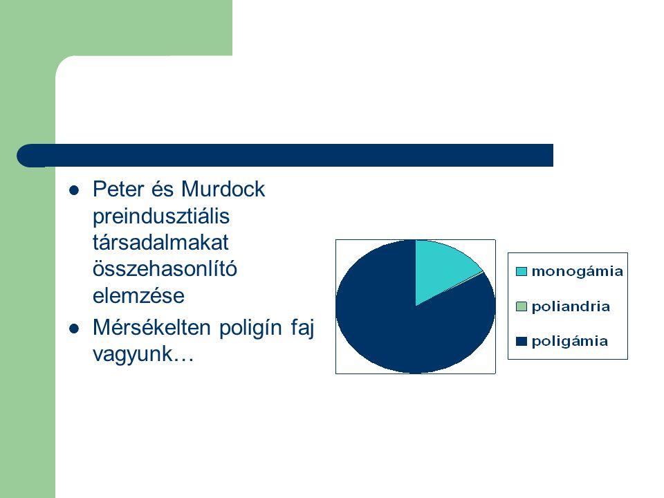Peter és Murdock preindusztiális társadalmakat összehasonlító elemzése