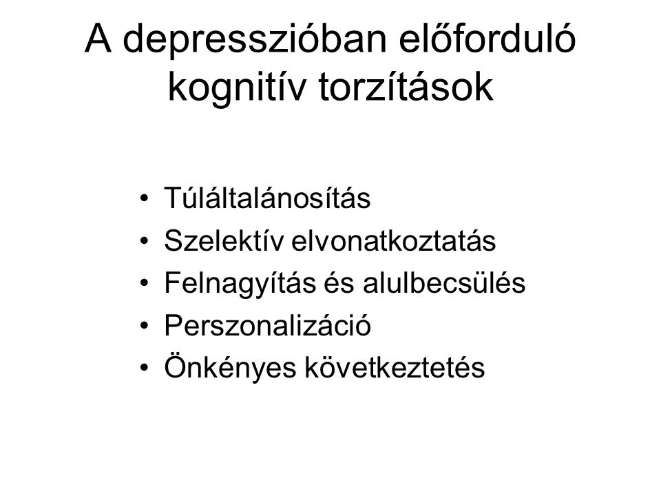 A depresszióban előforduló kognitív torzítások