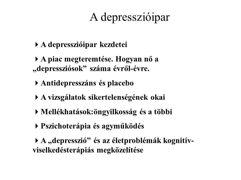 A depresszióipar A depresszióipar kezdetei