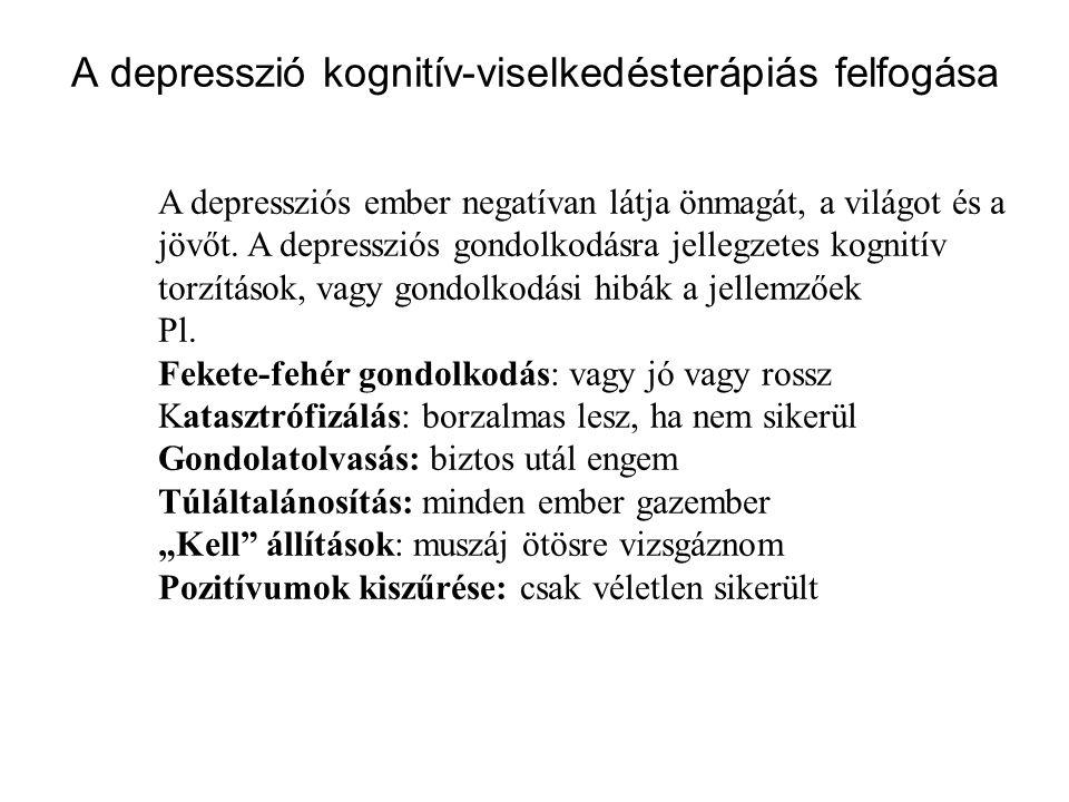 A depresszió kognitív-viselkedésterápiás felfogása