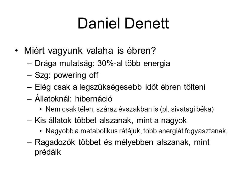 Daniel Denett Miért vagyunk valaha is ébren
