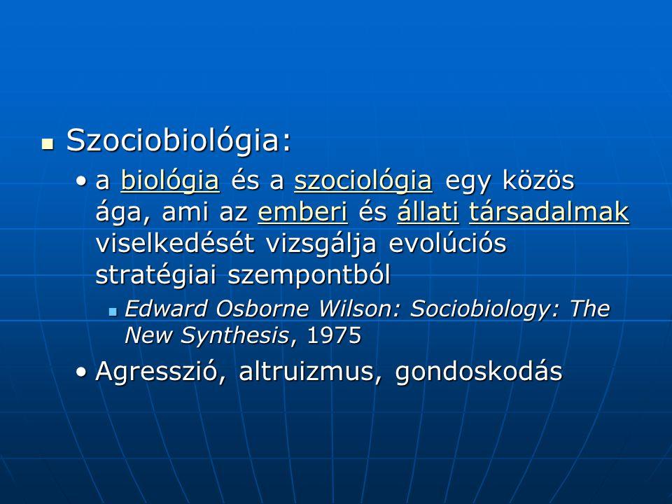 Szociobiológia: