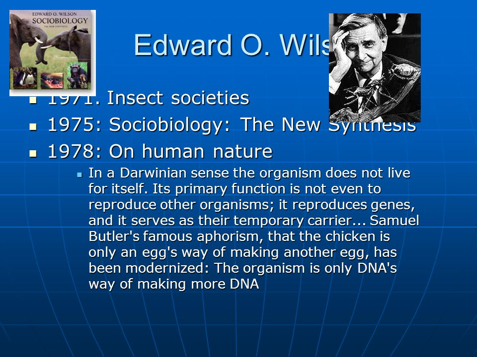Edward O. Wilson Insect societies