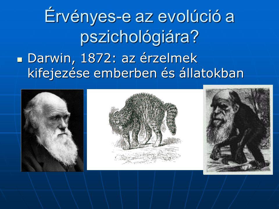 Érvényes-e az evolúció a pszichológiára