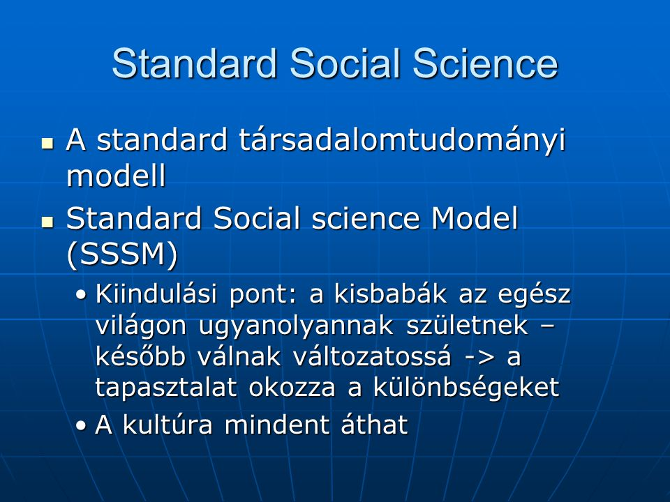 Standard Social Science