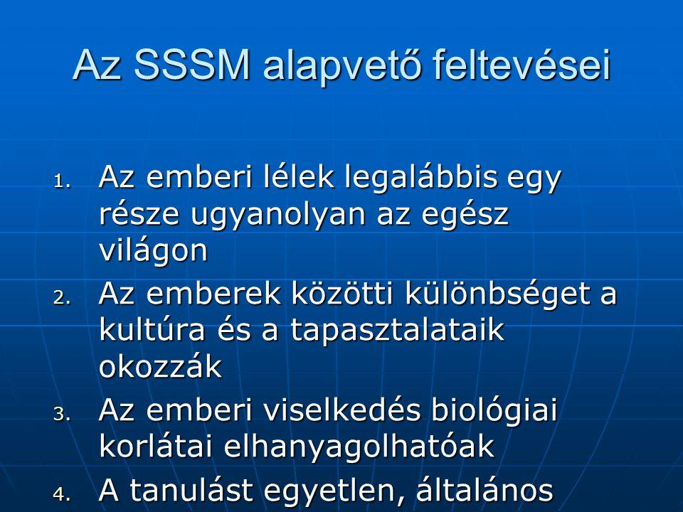 Az SSSM alapvető feltevései