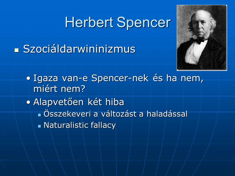 Herbert Spencer Szociáldarwininizmus