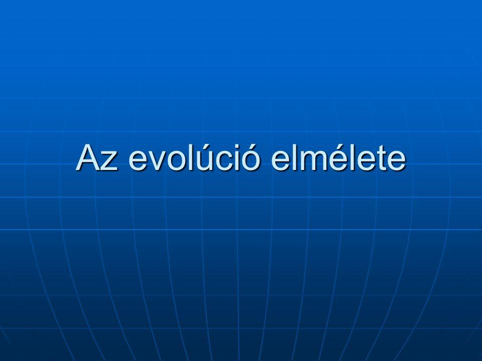 Az evolúció elmélete