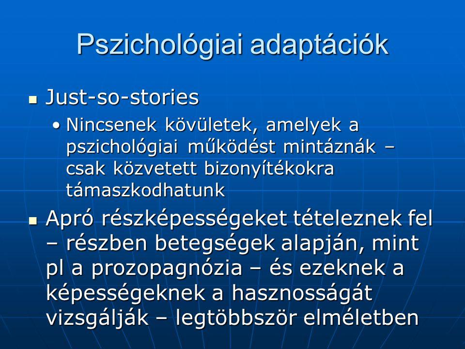 Pszichológiai adaptációk