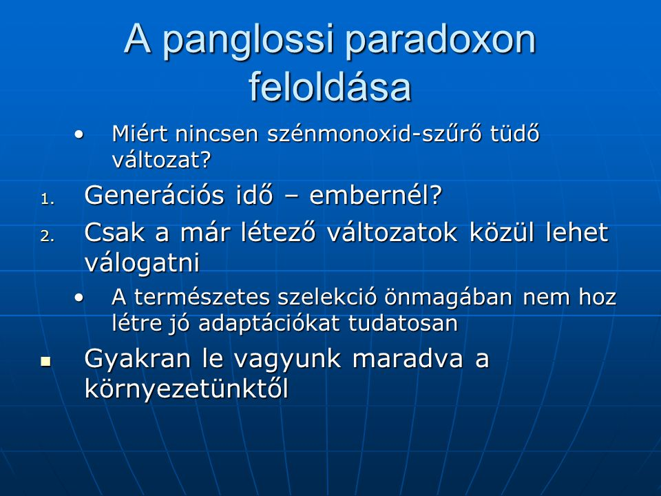 A panglossi paradoxon feloldása