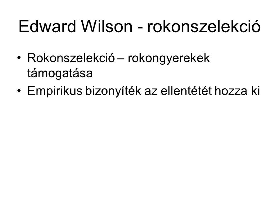 Edward Wilson - rokonszelekció