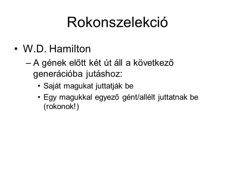 Rokonszelekció W.D. Hamilton