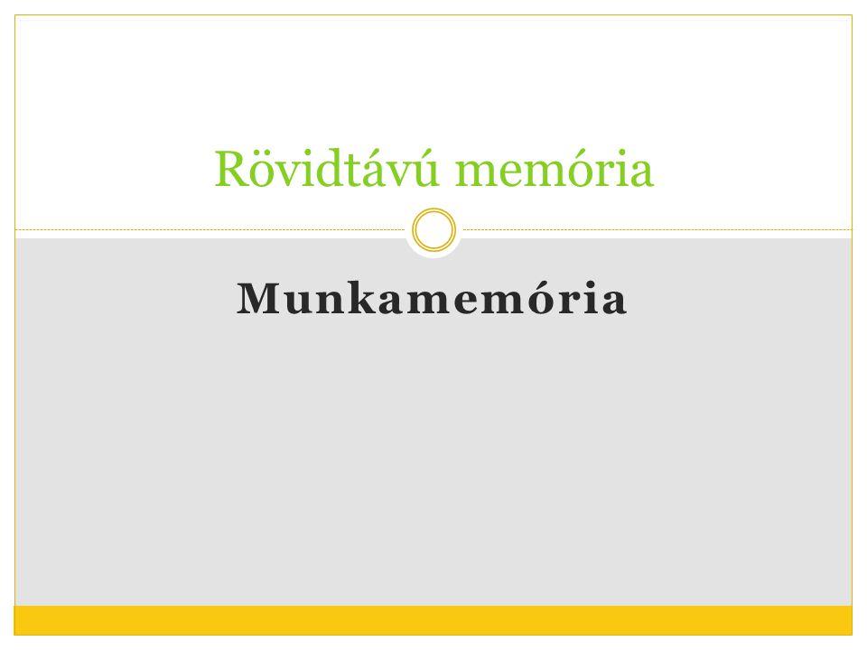 Rövidtávú memória Munkamemória