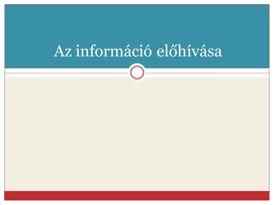 Az információ előhívása
