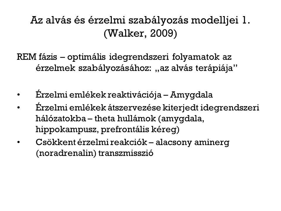 Az alvás és érzelmi szabályozás modelljei 1. (Walker, 2009)