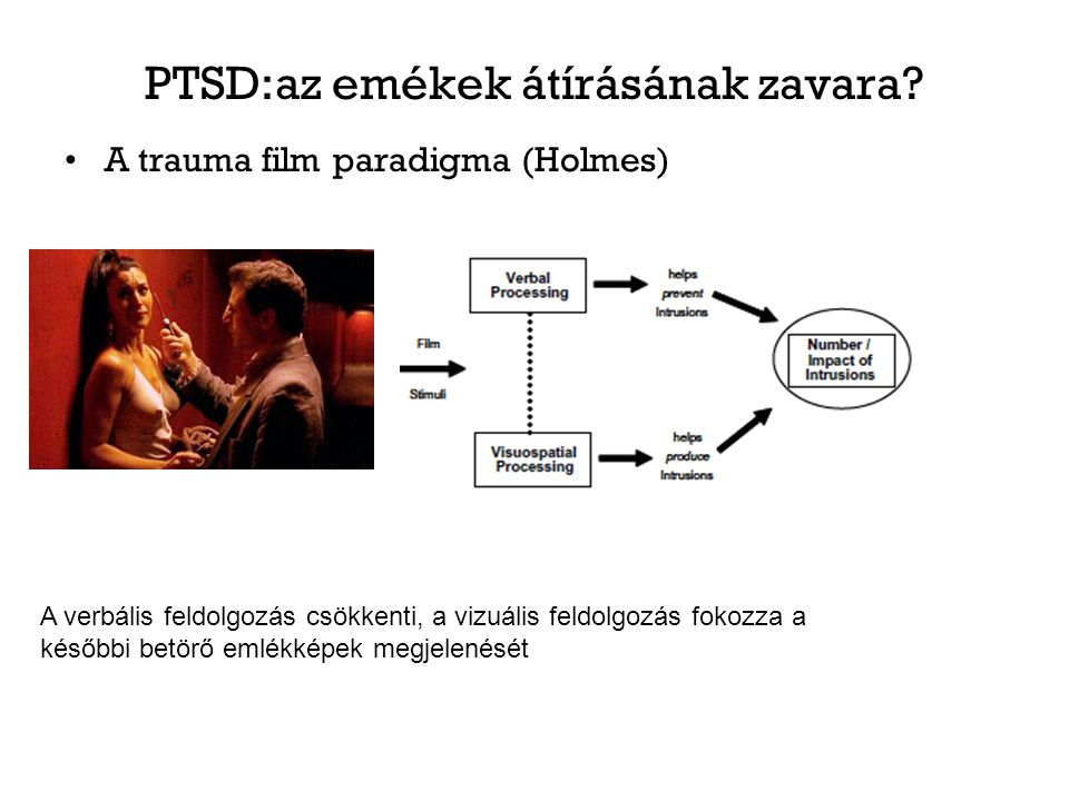 PTSD:az emékek átírásának zavara