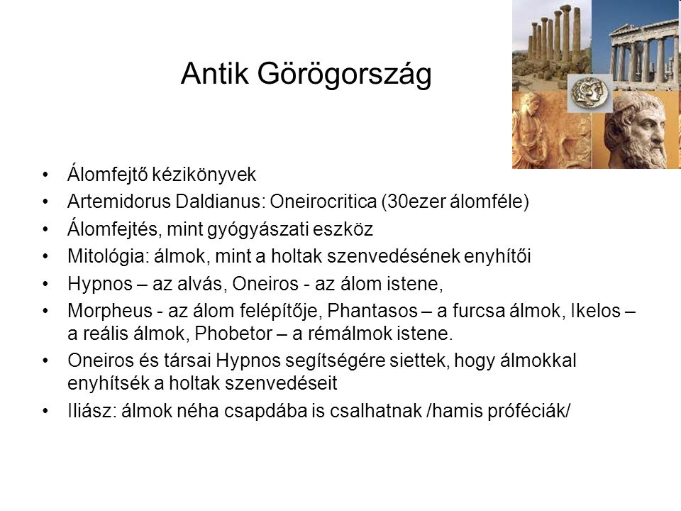 Antik Görögország Álomfejtő kézikönyvek