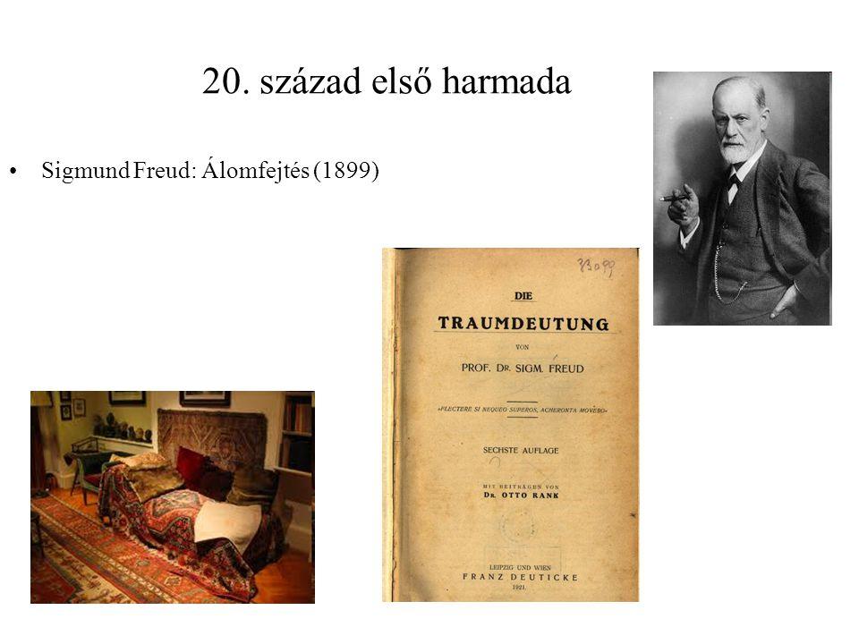 20. század első harmada Sigmund Freud: Álomfejtés (1899)