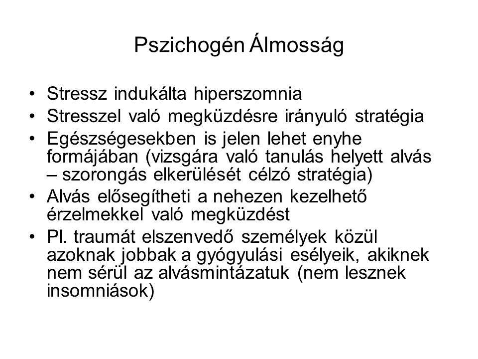 Pszichogén Álmosság Stressz indukálta hiperszomnia
