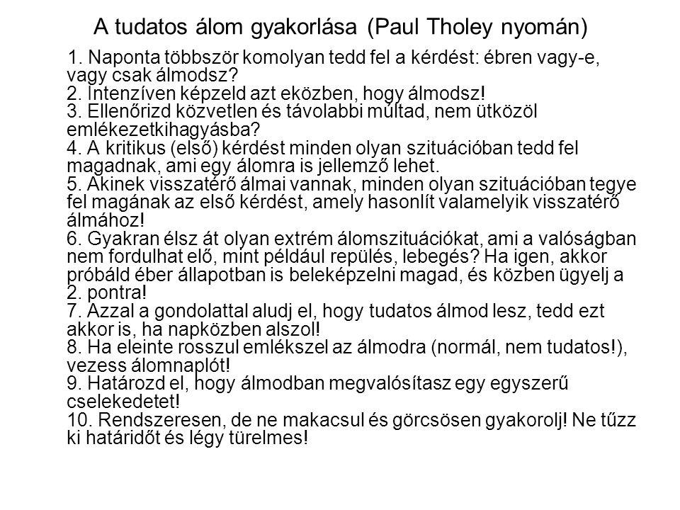 A tudatos álom gyakorlása (Paul Tholey nyomán)